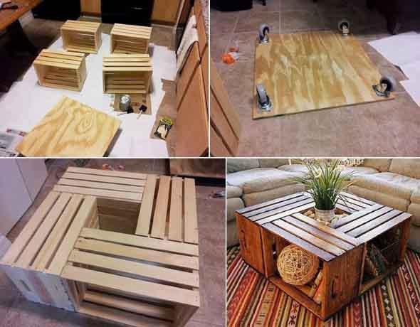 Arte com caixotes de feira 012
