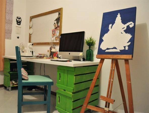 Arte com caixotes de feira 013