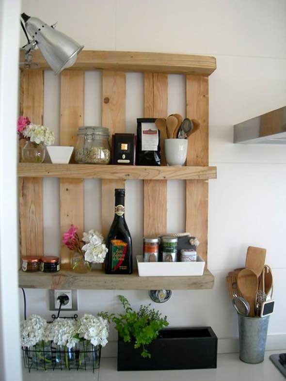 15 Ideias de artesanato com paletes na cozinha 002