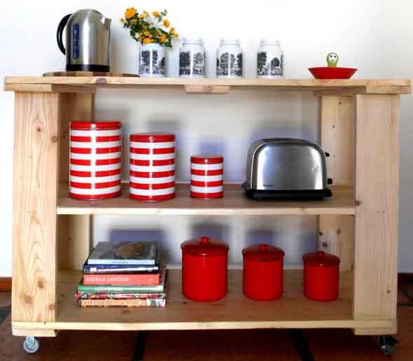15 Ideias de artesanato com paletes na cozinha 007