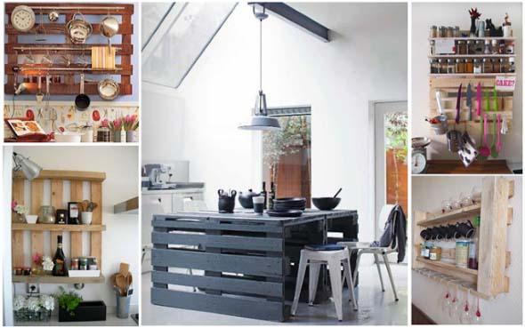 15 Ideias de artesanato com paletes na cozinha 010
