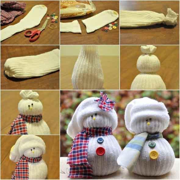 Como fazer um boneco com meias de algodão 001