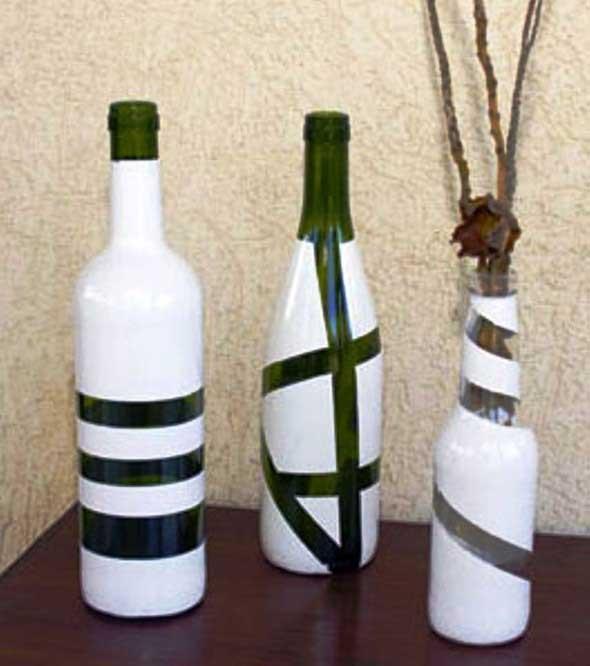 Como pintar garrafas de vidro em casa 002