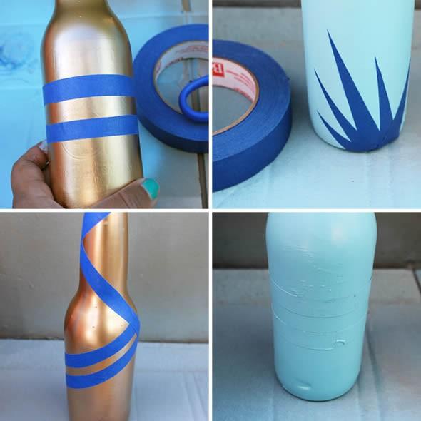 Como pintar garrafas de vidro em casa 007