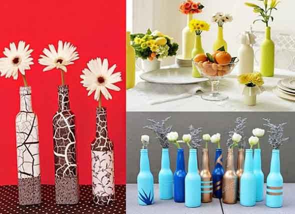 Como pintar garrafas de vidro em casa 014