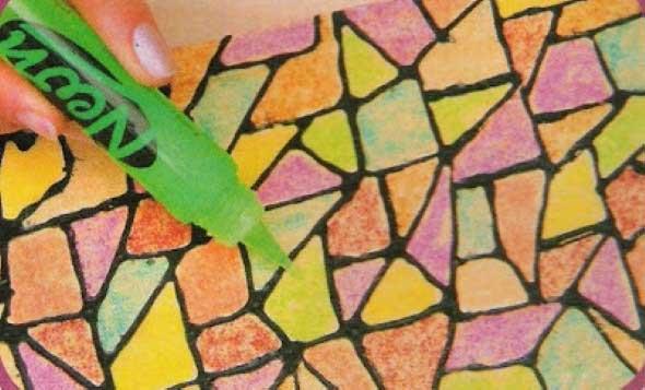 Falso mosaico em MDF 005