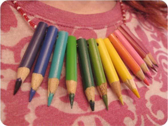 Ideias de artesanato com lápis de cor 010