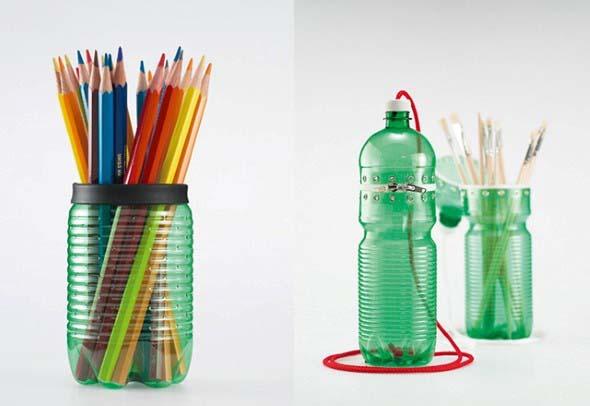 Maneiras criativas de arte com garrafas PET 002