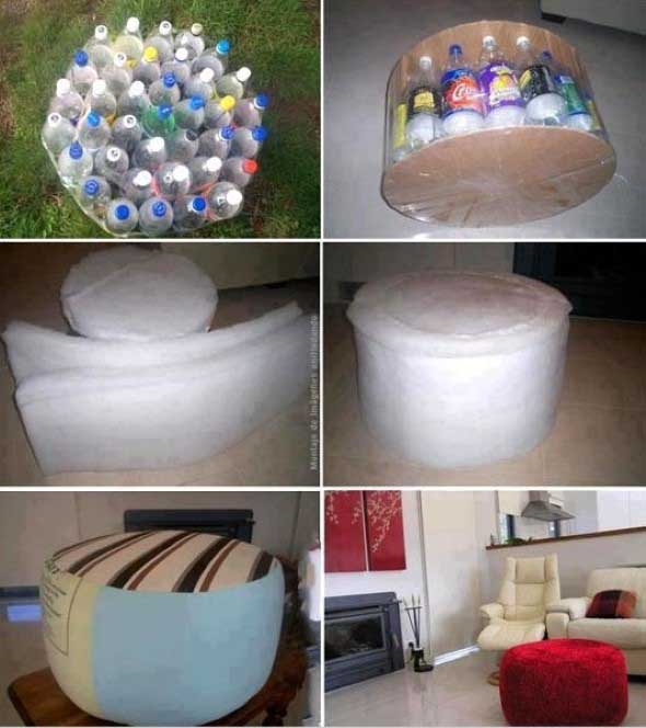 Maneiras criativas de arte com garrafas PET 004