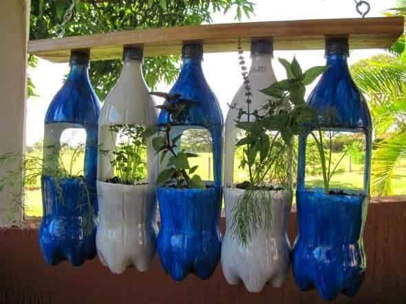Maneiras criativas de arte com garrafas PET 007