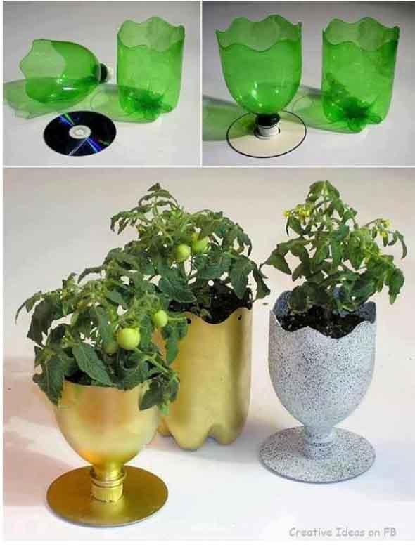 Maneiras criativas de arte com garrafas PET 009