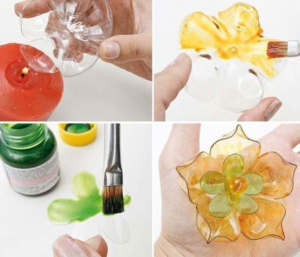 Maneiras criativas de arte com garrafas PET 010