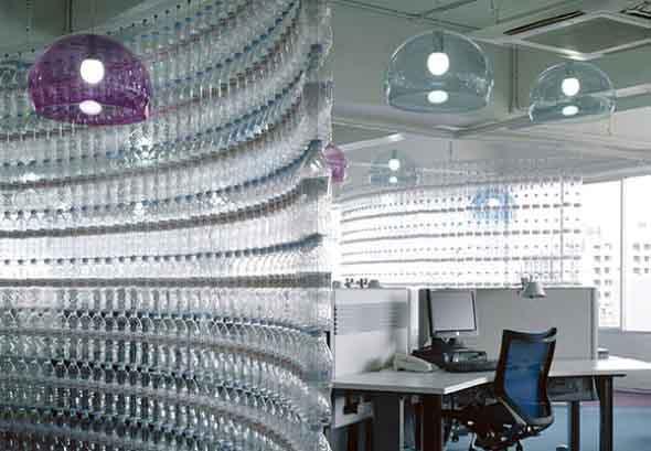Maneiras criativas de arte com garrafas PET 012