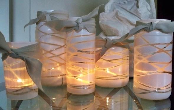 Artesanato com frascos de vidro 011