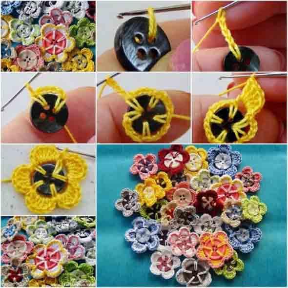 Como usar botões de roupa no artesanato 006