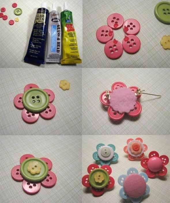 Como usar botões de roupa no artesanato 011