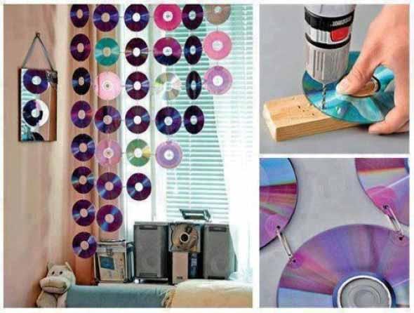Ideias de artesanato com CDs e DVDs velhos 007