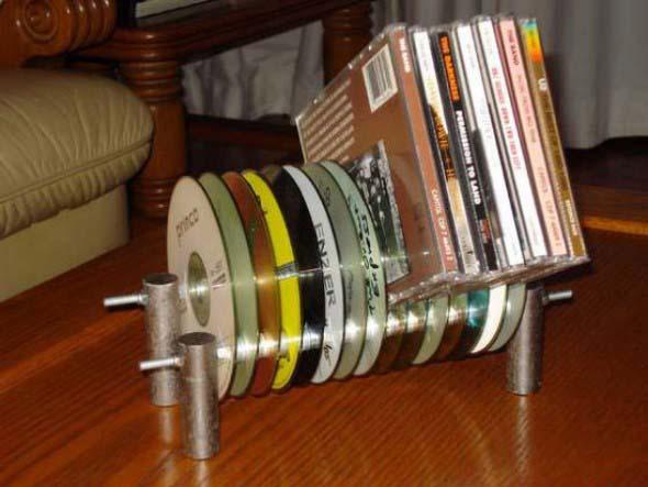 Ideias de artesanato com CDs e DVDs velhos 008