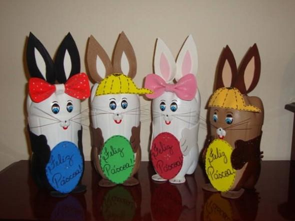 Lembrancinhas de Páscoa feitas com garrafa PET 007