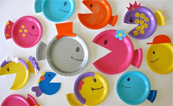 Artesanato com pratos descartáveis 001