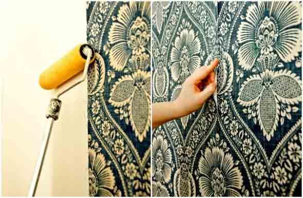 Como forrar paredes com tecido 009