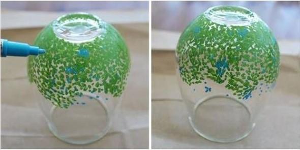 Como pintar potes de vidro em casa 013
