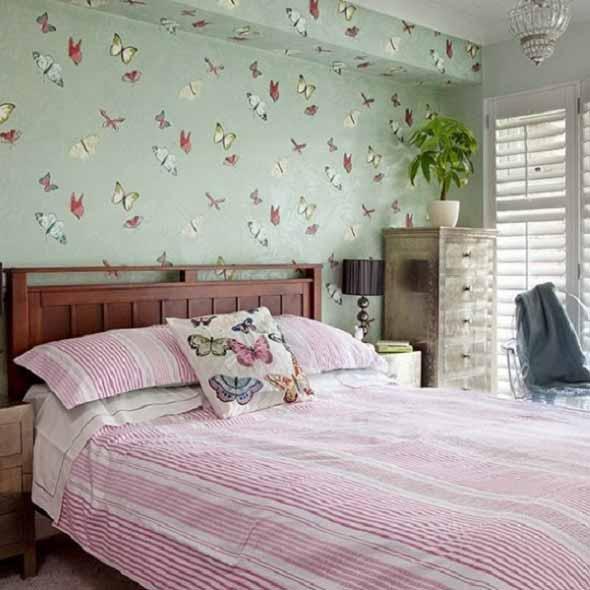 Como decorar as paredes do quarto com tecido 002