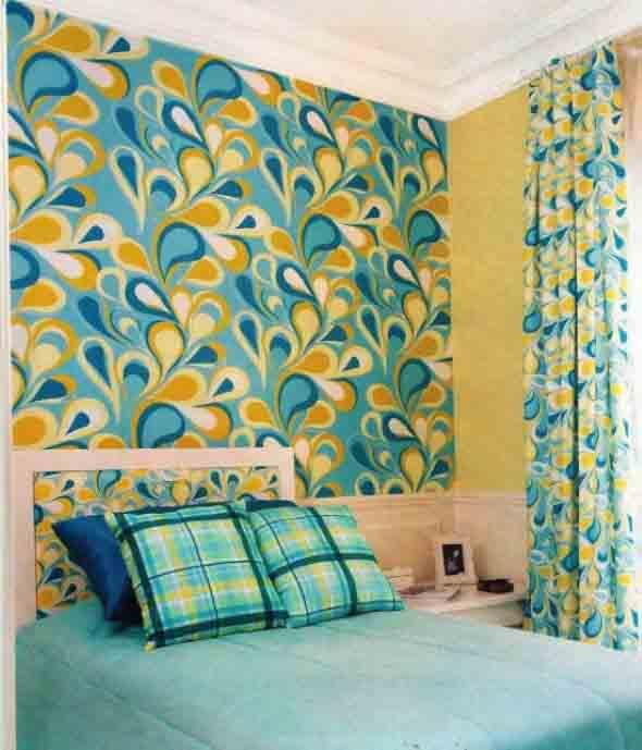 Como decorar as paredes do quarto com tecido 003