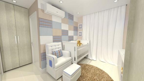Como decorar as paredes do quarto com tecido 005