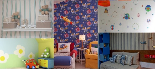 Como decorar as paredes do quarto com tecido 010