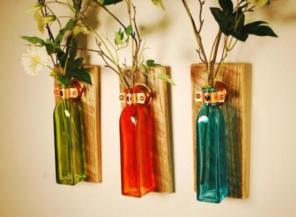 Garrafas de vidro no artesanato 006