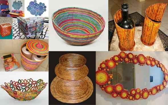 Ideias criativas de artesanato com papel 012