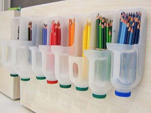 Porta-lápis com material reciclável 005