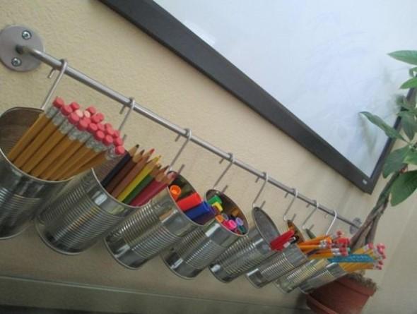 Porta-lápis com material reciclável 012