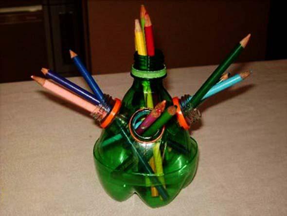 Porta-lápis com material reciclável 015