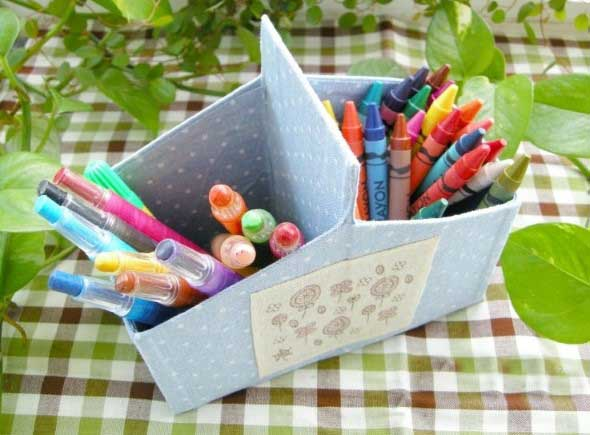Porta-lápis com material reciclável 017