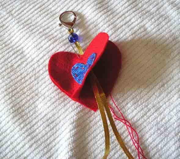 Corações de tecido 010