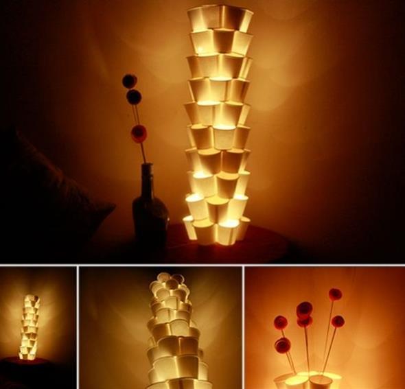DIY – Como fazer arte com copos descartáveis 005