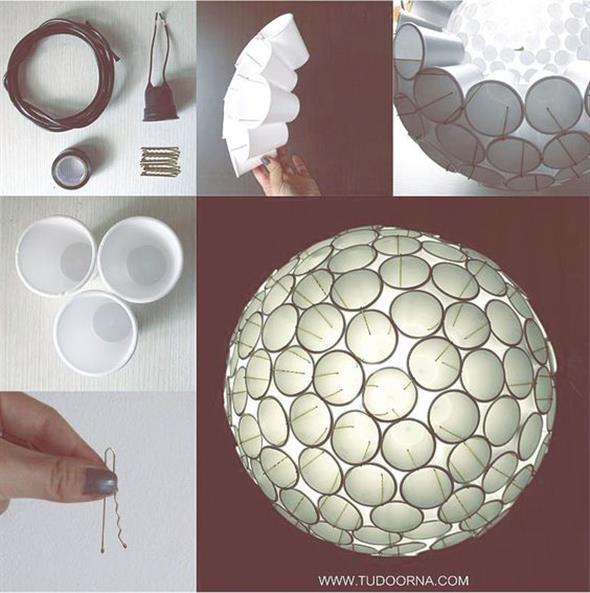 DIY – Como fazer arte com copos descartáveis 013