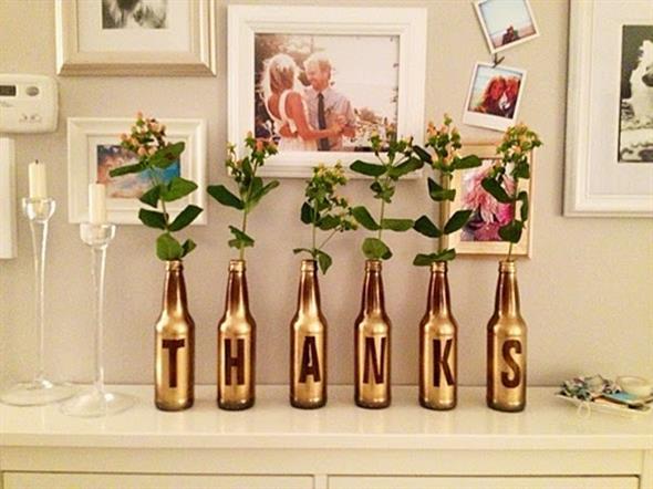 Pintura em garrafas de vidro com fita adesiva 007