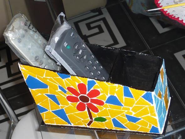 Porta controle remoto artesanal 009