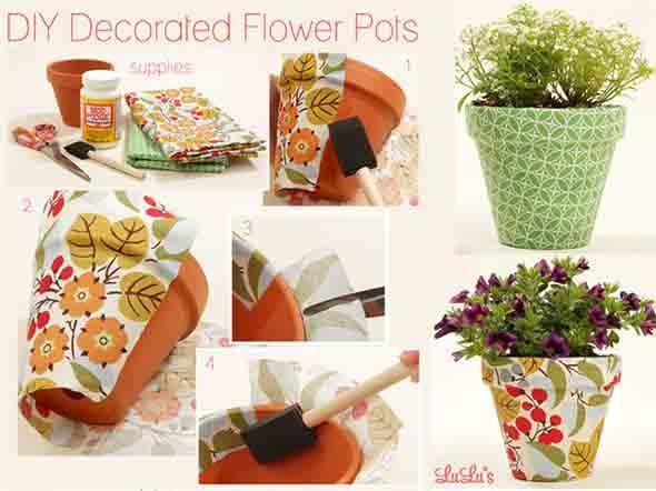Vasos decorados com artesanato 006