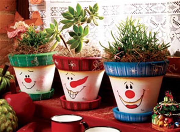 Vasos decorados com artesanato 010