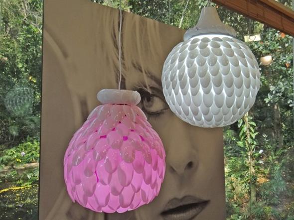 Artesanato criativo com colheres de plástico 006