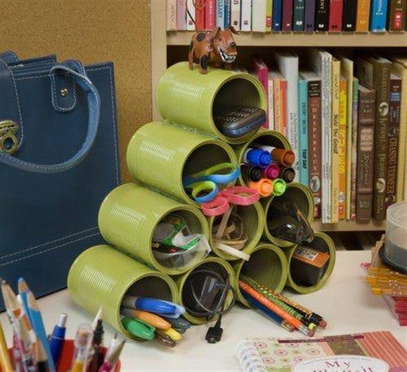 Como fazer arte com latas 002