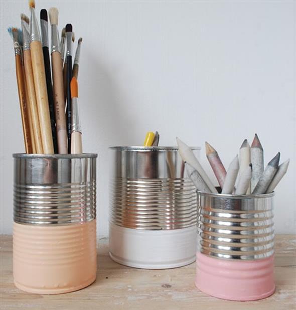 Como fazer arte com latas 006