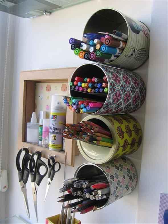 Como fazer arte com latas 016