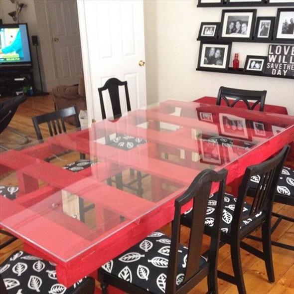 Como fazer uma mesa de paletes 010