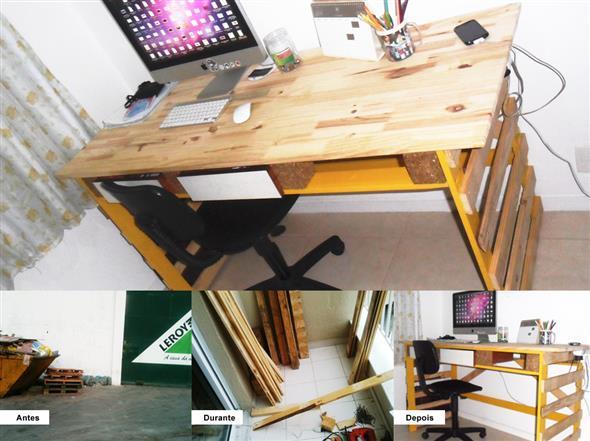 Como fazer uma mesa de paletes 013