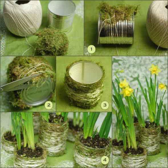 Como fazer vasos artesanais com material reciclado 004
